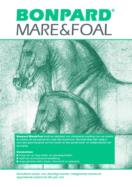 Kenmerken van Bonpard Mare&Foal zijn een hoog vet- en eiwitgehalte en een laag zetmeelgehalte. Voldoende essentieel voedingsstoffen